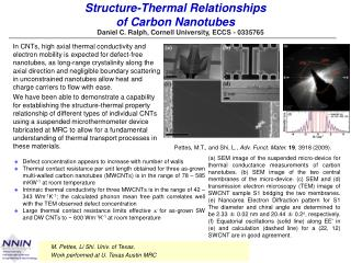 Structure-Thermal Relationships  of Carbon Nanotubes