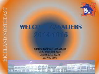 WELCOME  CAVALIERS 2014-1015