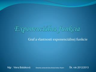 Exponenci�lna funkcia