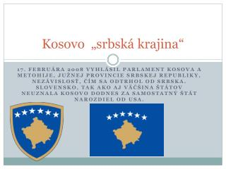 "Kosovo   ""srbská krajina"""