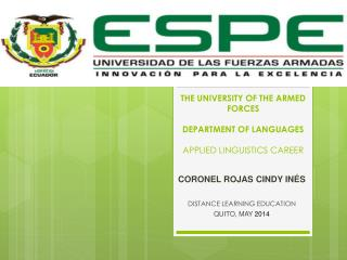 THE UNIVERSITY OF THE ARMED  FORCES DEPARTMENT OF LANGUAGES APPLIED LINGUISTICS CAREER