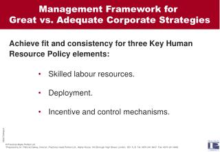 Skilled labour resources.  Deployment.  Incentive and control mechanisms.