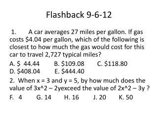 Flashback  9-6-12