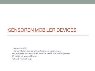 Sensoren mobiler Devices