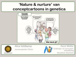 'Nature &  nurture ' van conceptcartoons in genetica
