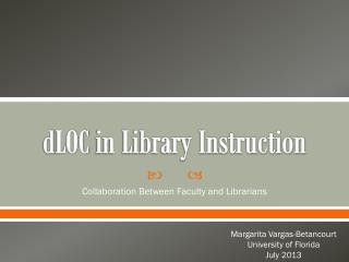 d LOC  in Library Instruction
