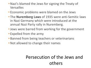 Persecution of the Jews and others
