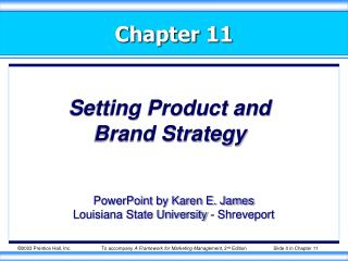 Setting Product and  Brand Strategy