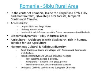 Romania - Sibiu Rural Area
