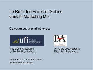 Le R le des Foires et Salons dans le Marketing Mix