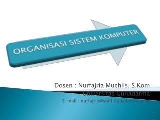 Dosen  :  Nurfajria Muchlis ,  S.Kom Universitas Gunadarma
