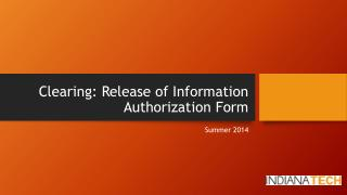 Clearing: Release of Information Authorization Form