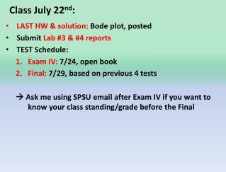 Class July 22 nd :