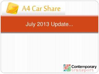 July 2013 Update...