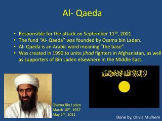 Al- Qaeda