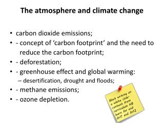 The atmosphere and climate change