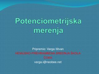 Potenciometrijska merenja
