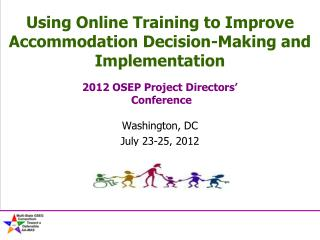 Using Online Training to Improve Accommodation Decision-Making and Implementation