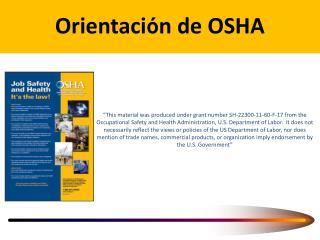 Orientaci ó n de OSHA