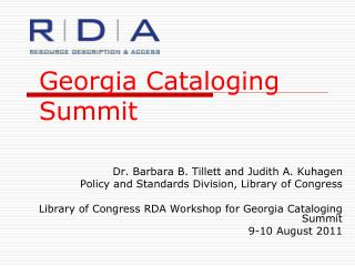Georgia Cataloging Summit