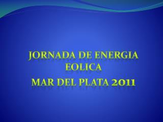 Jornada de  energia eolica Mar del plata  2011