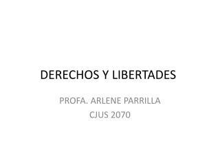 DERECHOS Y LIBERTADES