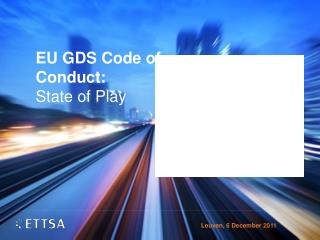 EU GDS Code of Conduct : State of Play