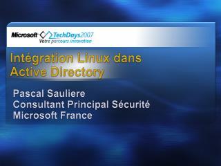 Intégration Linux dans Active Directory