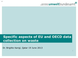 Specific aspects  of EU and OECD  data collection on waste
