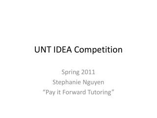 UNT IDEA Competition