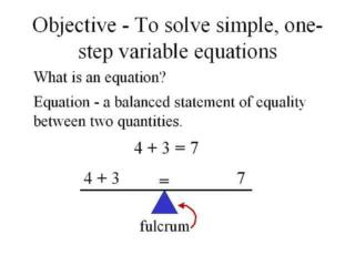 Balancing equations 1 step, 2 step and more solving equations
