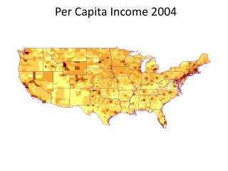 Per Capita Income 2004