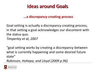 Ideas around Goals