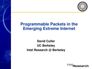 Programmable Packets in the Emerging Extreme Internet