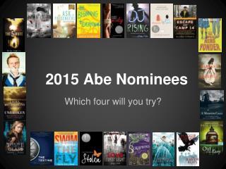 2015 Abe Nominees