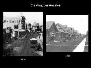 Creating Los Angeles
