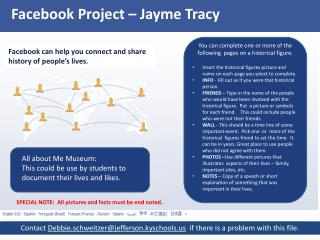 Facebook  Project –  Jayme Tracy