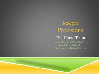 Joseph Provisions