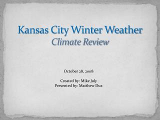 Kansas City Winter Weather Climate Review