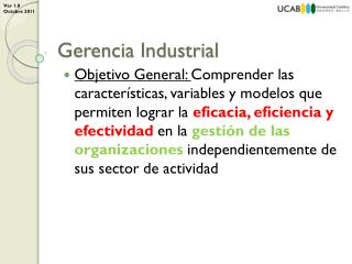 Gerencia Industrial