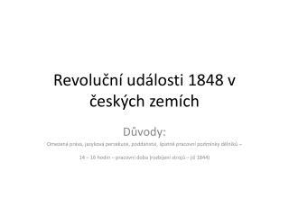 Revoluční události 1848 v českých zemích