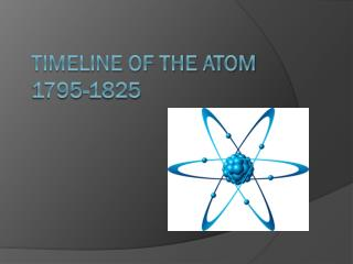 Timeline OF THE Atom 1795-1825