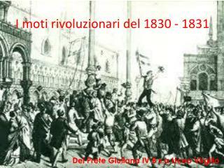 I moti rivoluzionari del 1830 - 1831