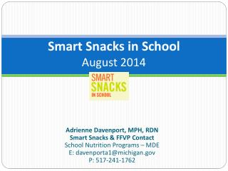 Smart Snacks in School August 2014
