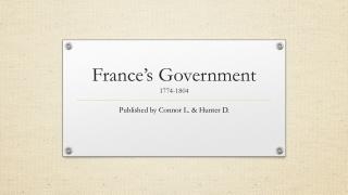 France's Government 1774-1804