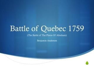 Battle of Quebec 1759