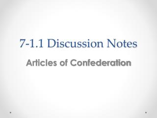 7-1.1 Discussion Notes