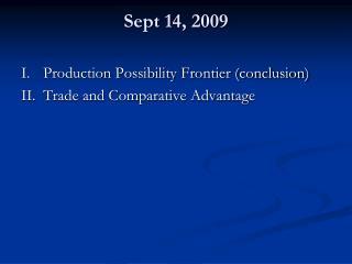 Sept 14, 2009