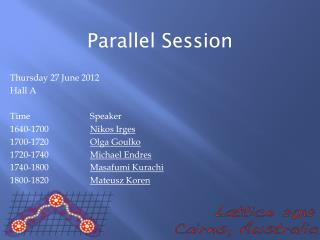 Parallel Session