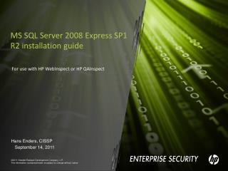 MS SQL Server 2008 Express SP1 R2 installation guide